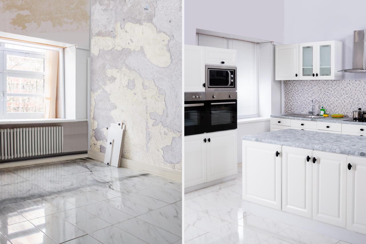 Renovación de cocina, antes y después